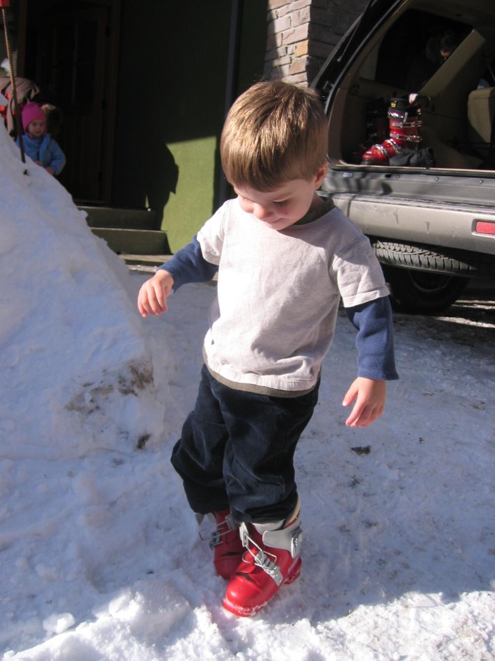 Ski boots at 2